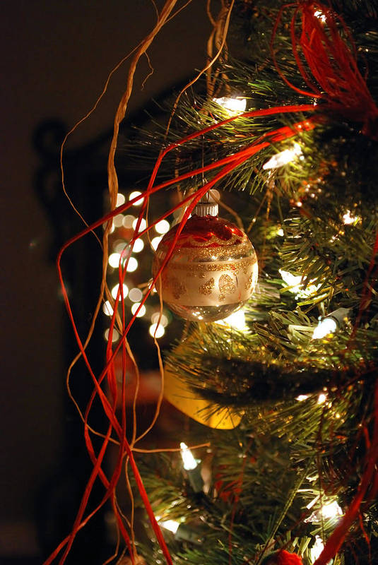 Festive Art Print featuring the photograph Christmas Ornament by Charles Bacon Jr