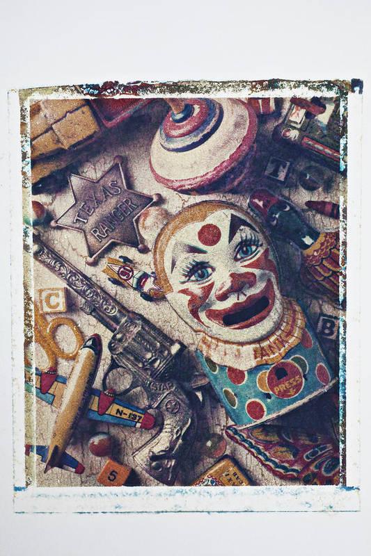 Clown Bank Art Print featuring the photograph Clown Bank by Garry Gay