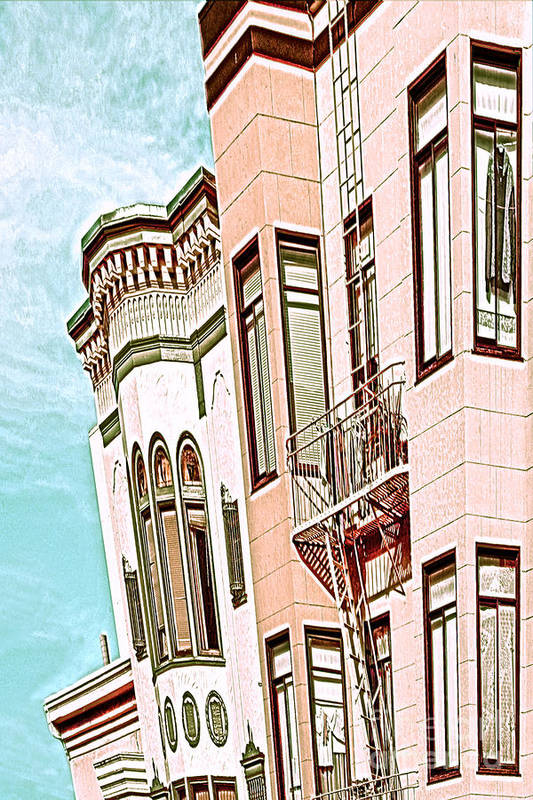 San Francisco Art Print featuring the digital art Coat In The Window by Artist and Photographer Laura Wrede
