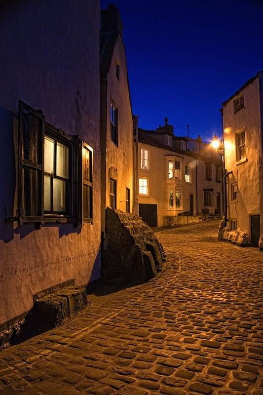 Abodes Art Print featuring the photograph Cobblestone Road, North Yorkshire by John Short