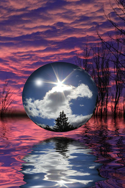 Sphere Art Print featuring the photograph Contrasting Skies by Shane Bechler