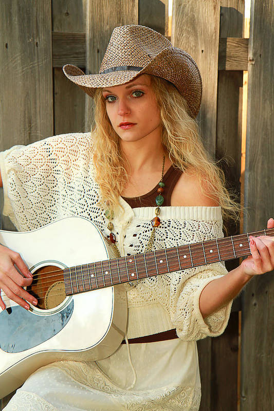 Country Art Print featuring the photograph Country Musician by Trudy Wilkerson