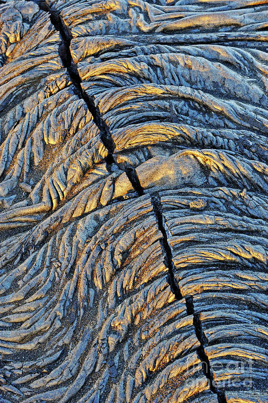 Separation Art Print featuring the photograph Crack In Pahoehoe Lava by Sami Sarkis