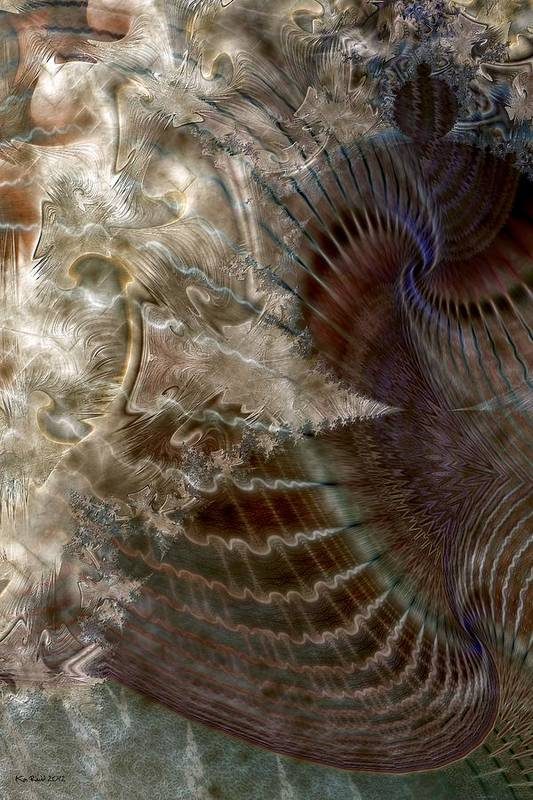 Fractals Art Print featuring the digital art Deception by Kim Redd