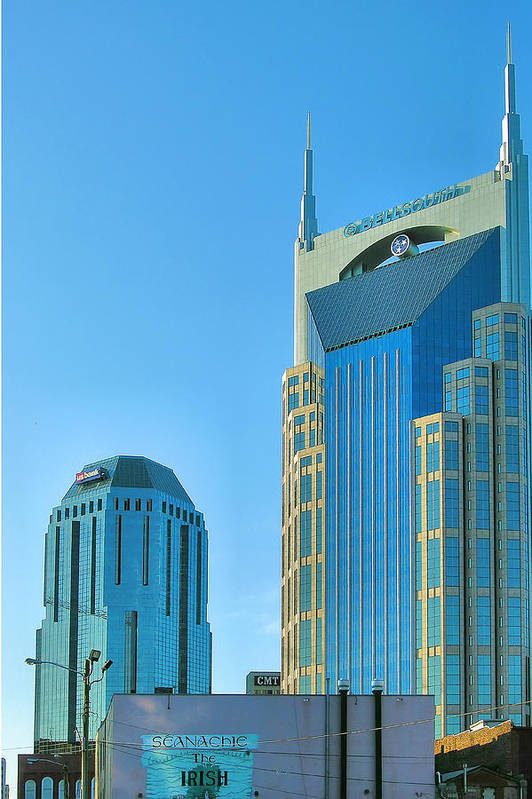 City Print featuring the photograph Downtown Nashville I by Steven Ainsworth