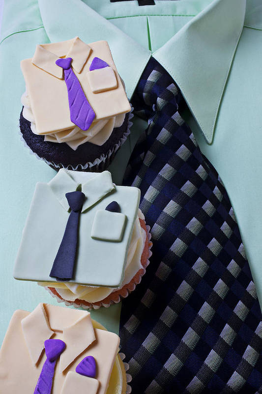 Cupcakes Art Print featuring the photograph Dress Shirt Cupcakes by Garry Gay