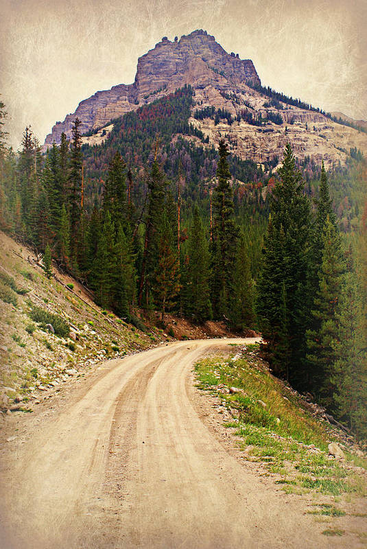 Mountains Art Print featuring the photograph Dubois Mountain Road by Marty Koch