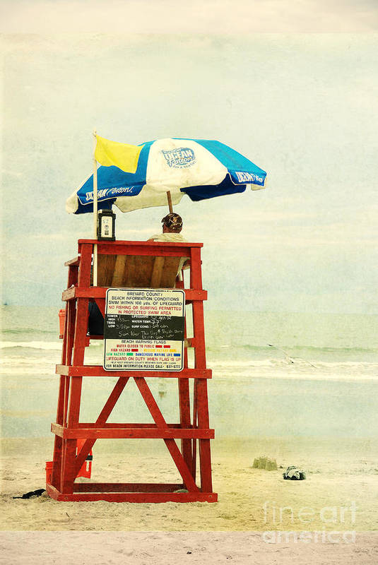 Beach Art Print featuring the photograph Duty Time by Susanne Van Hulst