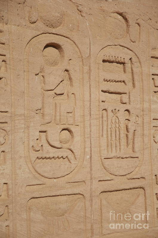 Writing Art Print featuring the photograph Egyptian Writing by Sean Stauffer