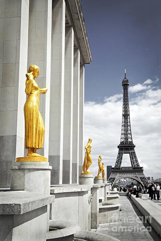 Eiffel Art Print featuring the photograph Eiffel Tower From Trocadero by Elena Elisseeva