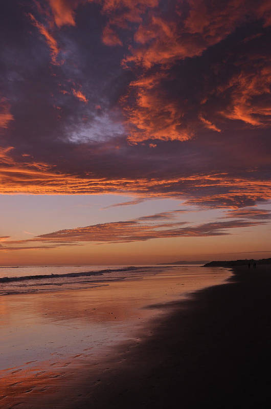 Sunset Art Print featuring the photograph Fiery Skies by Sandy Fisher