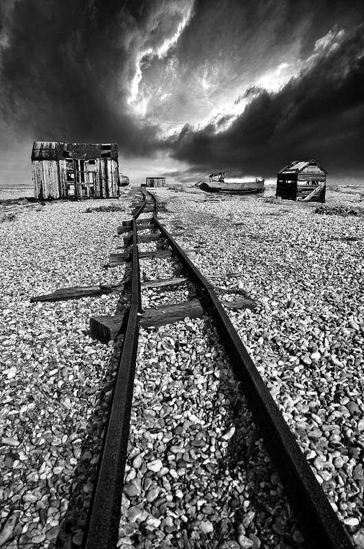 Black And White Art Print featuring the photograph Fishing Boat Graveyard 6 by Meirion Matthias