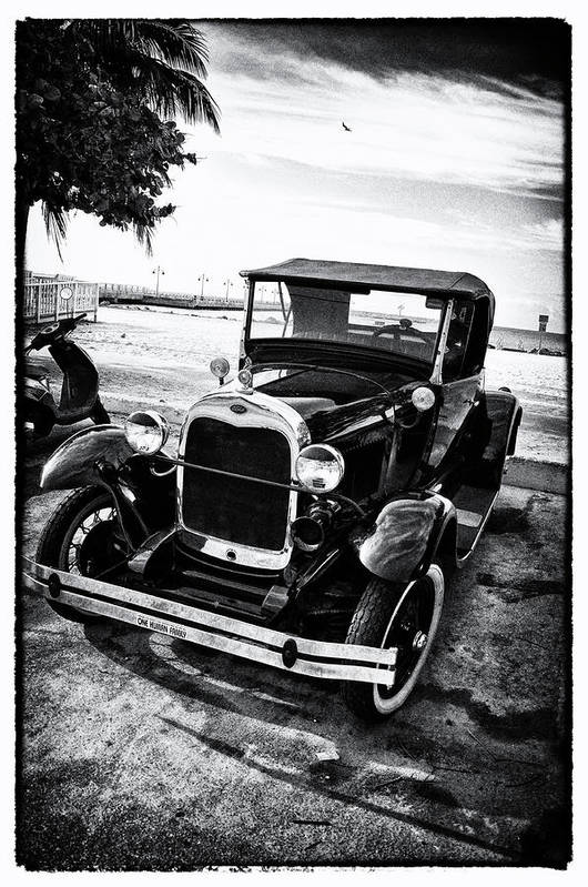 Ford Art Print featuring the photograph Ford Model T Film Noir by Bill Cannon