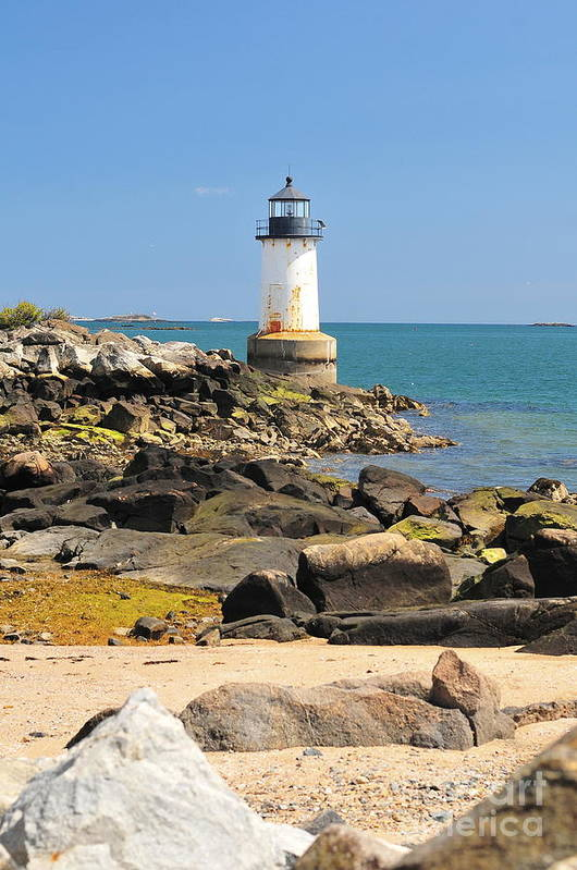 Salem Art Print featuring the photograph Fort Pickering Lighthouse by Catherine Reusch Daley