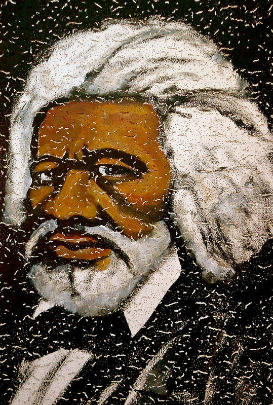 Slave Print featuring the painting Frederick Douglas by Pete Maier