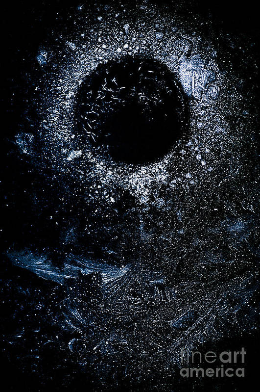 Abstract Art Print featuring the photograph Frozen Cosmos by Venetta Archer