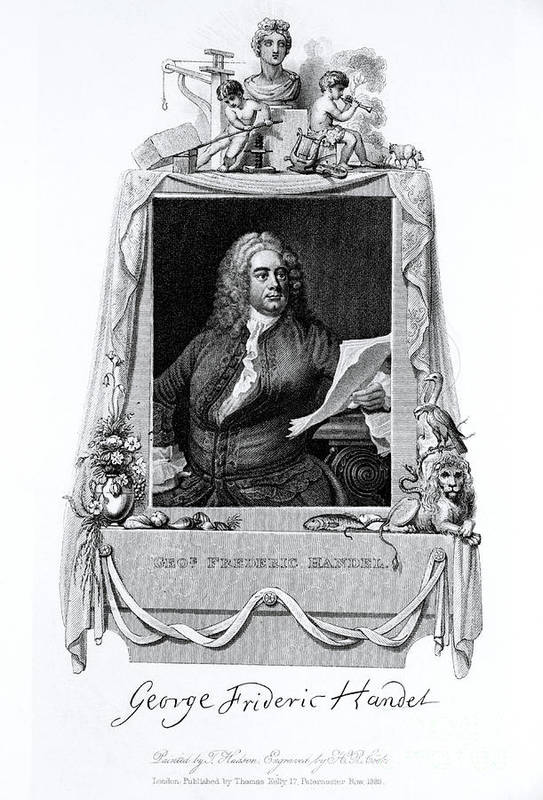 History Print featuring the photograph George Frideric Handel, German Baroque by Omikron