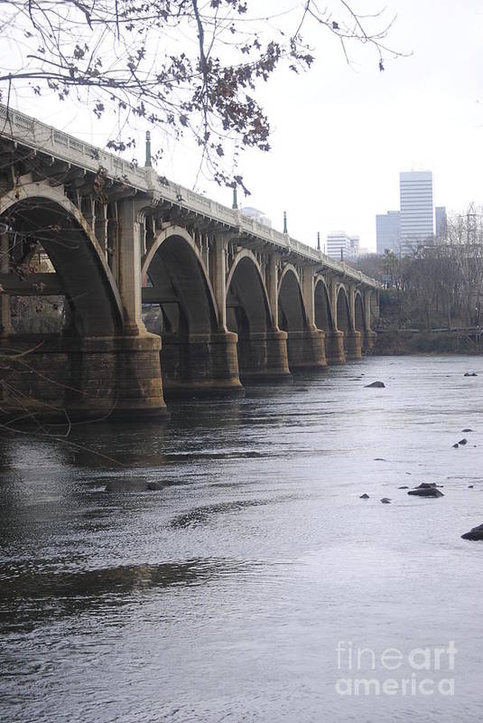 Gervais Art Print featuring the photograph Gervais Street Bridge Angled by Clifton Fomby