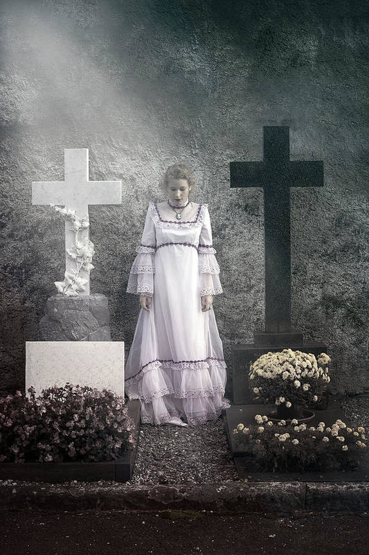 Girl Art Print featuring the photograph Graves by Joana Kruse