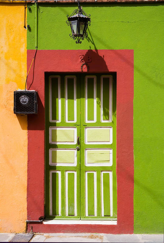 Access Art Print featuring the photograph Green Door by Eggers Photography