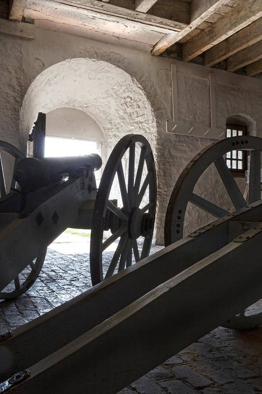 Old Fort Niagara Art Print featuring the photograph Ground Floor Cannons by Peter Chilelli