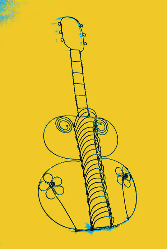 Art Print featuring the pyrography Guitar 2 by Mauro Celotti