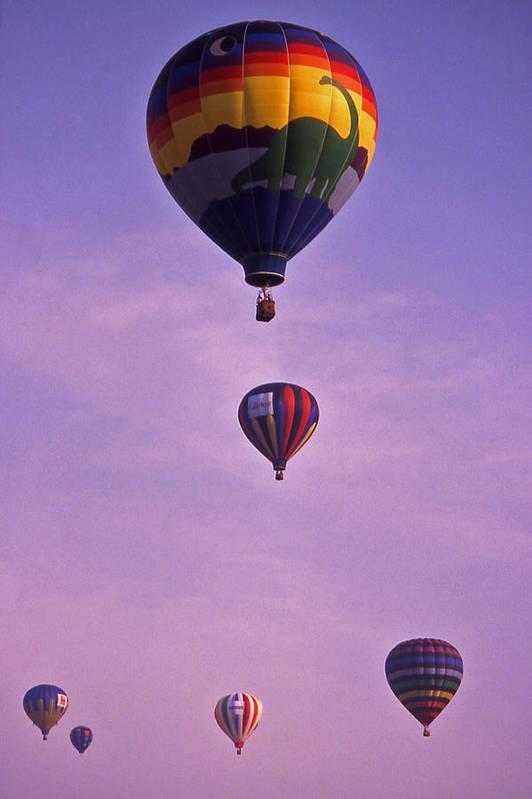 Hot Air Art Print featuring the photograph Hot Air Balloon Race - 3 by Randy Muir