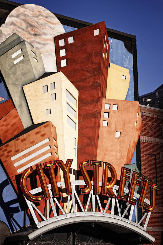 Sign Art Print featuring the photograph Hot City Streets by Joan Carroll
