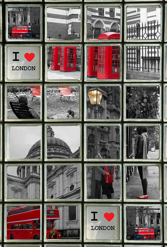 Westminster Art Print featuring the photograph I Love London by David French