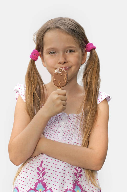 Girl Art Print featuring the photograph Ice Cream by Joana Kruse