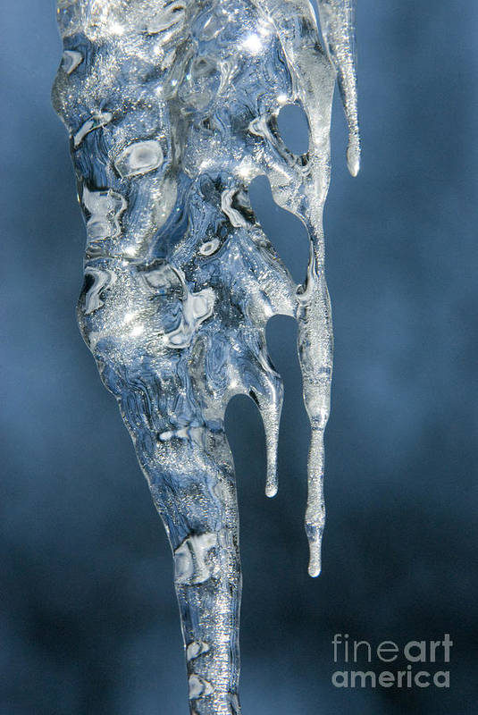 Bronstein Art Print featuring the photograph Icicle Formation by Sandra Bronstein