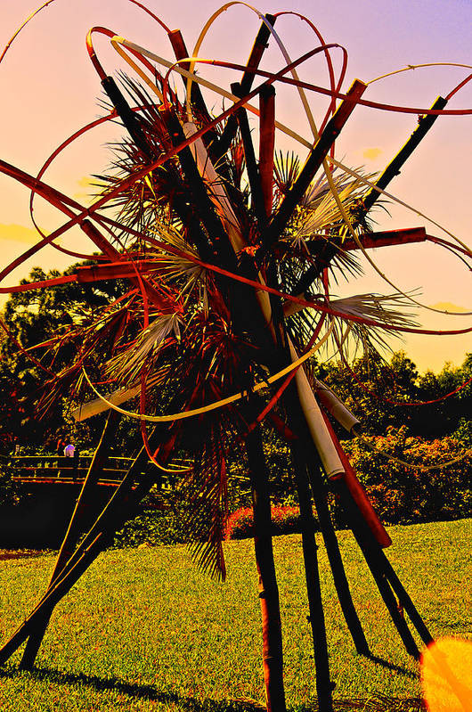 Japanese Gardens Art Print featuring the photograph Ikebana Sunset by Susi Perla