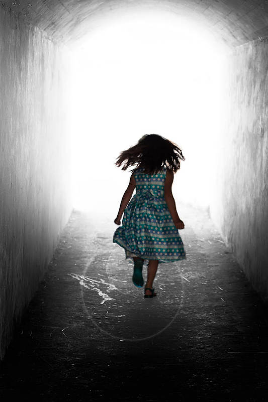 Girl Art Print featuring the photograph Into The Light by Matt Dobson