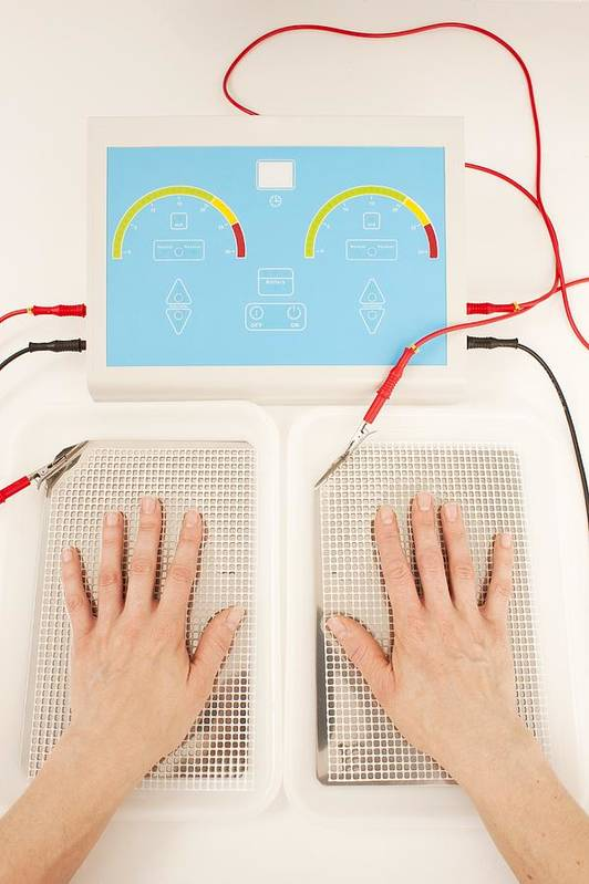 Indoors Art Print featuring the photograph Iontophoresis For Excess Sweating by