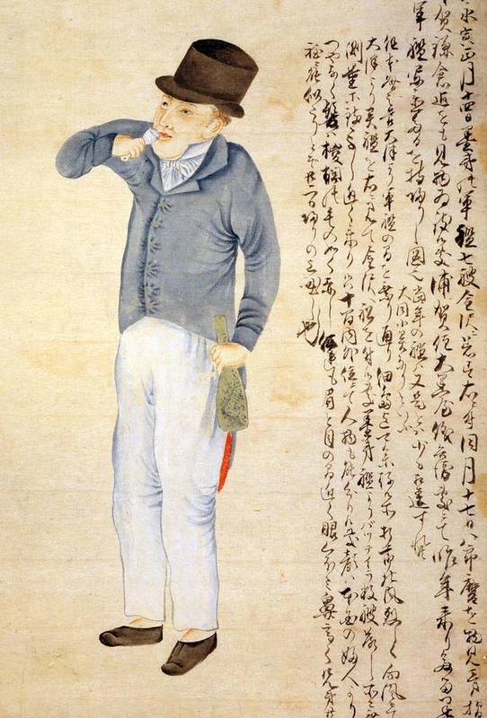1850s Art Print featuring the photograph Japanese Print Of An American Sailor by Everett