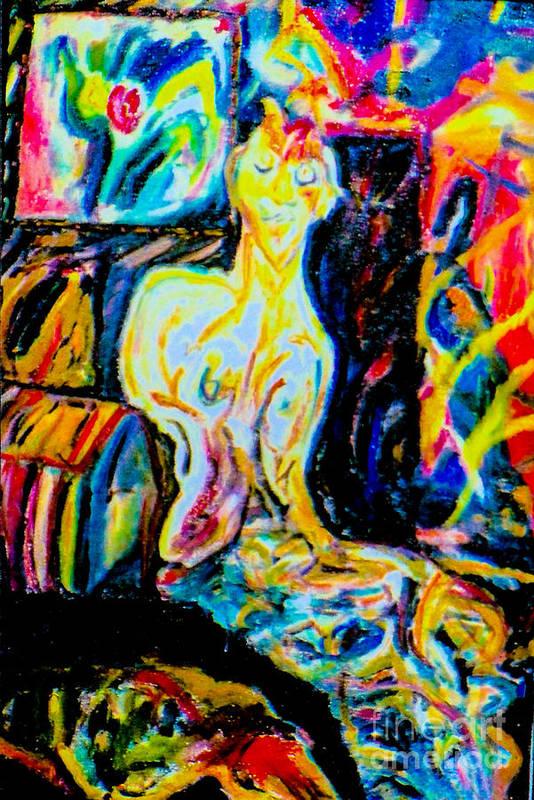 Outsider Artist. Art Print featuring the mixed media Joe D. by Bill Davis