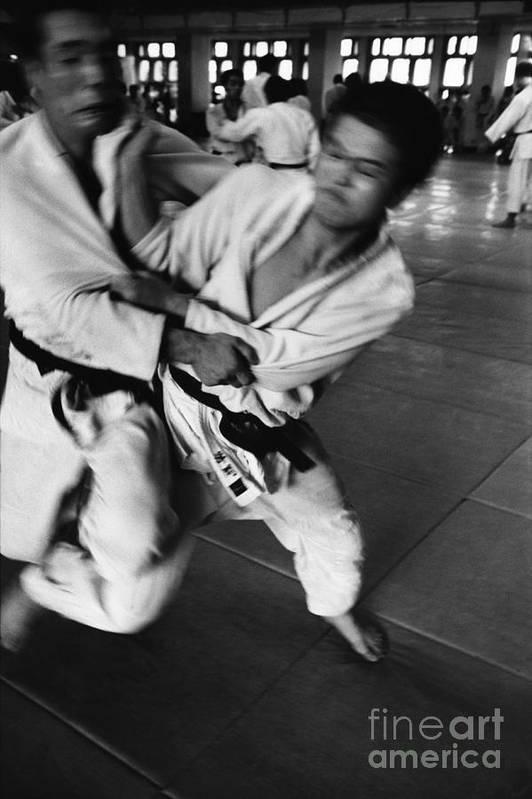 Tokyo Art Print featuring the photograph Judo by Bernard Wolff