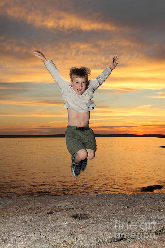 Coast Art Print featuring the photograph Jumping For Joy by Ted Kinsman