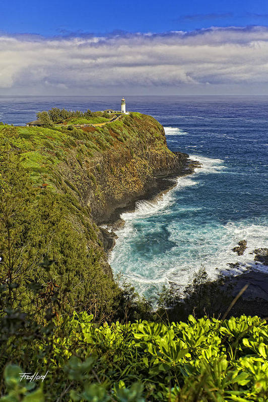 Ocean Art Print featuring the photograph Kilauea Lighthouse Hawaii by Fred J Lord