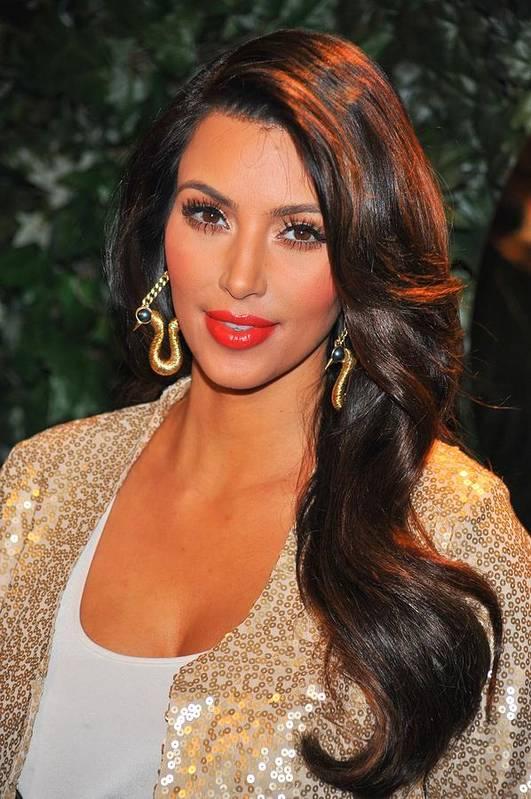 Kim Kardashian Art Print featuring the photograph Kim Kardashian At Arrivals For Qvc Red by Everett