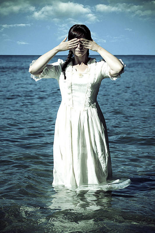 Female Art Print featuring the photograph Lady In Water by Joana Kruse