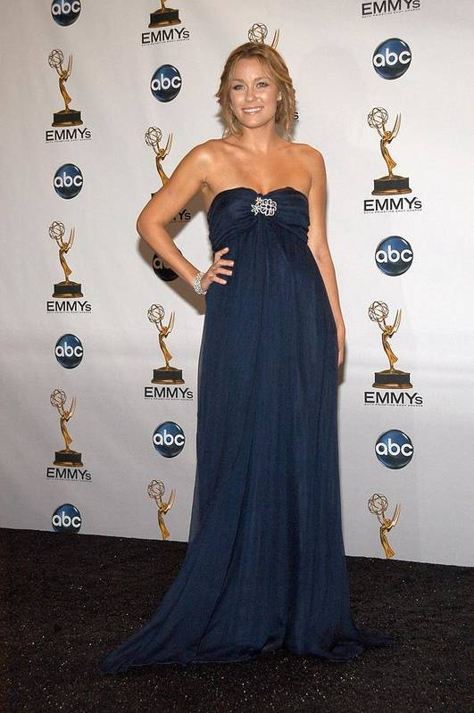 Primetime Emmy Awards 2008 - Press Room Art Print featuring the photograph Lauren Conrad In The Press Room by Everett