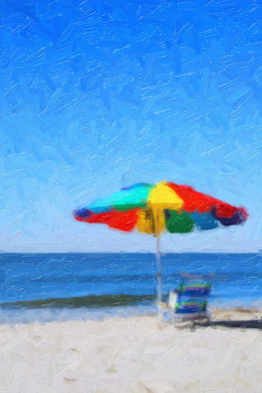 Beach Art Print featuring the painting Life's A Beach by Tilly Williams
