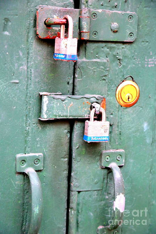 New Orleans Art Print featuring the photograph Locked Tight by Carol Groenen