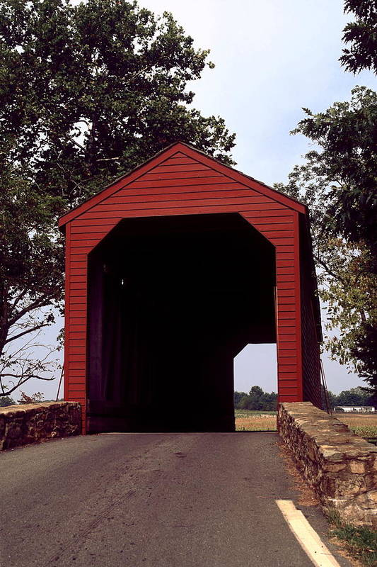 Loy's Station Covered Bridge Art Print featuring the photograph Loy's Station Covered Bridge by Sally Weigand
