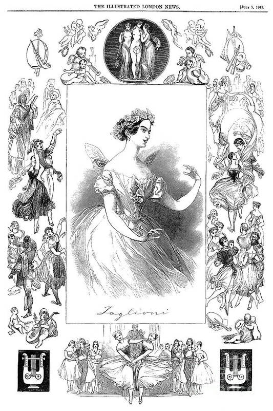 1845 Art Print featuring the photograph Marie Taglioni (1804-1884) by Granger