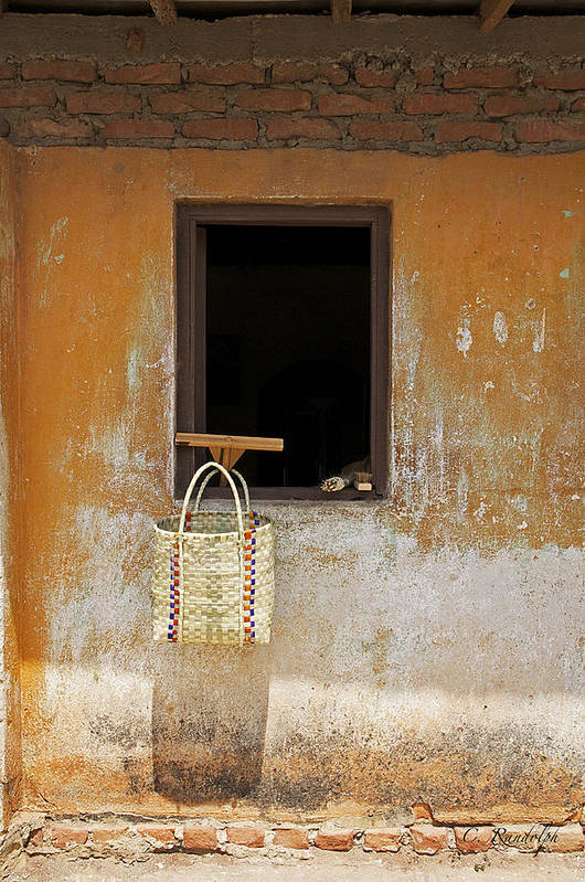Basket Art Print featuring the photograph Market Basket by Cheri Randolph