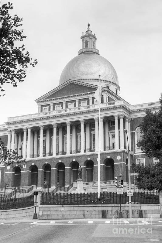 Clarence Holmes Art Print featuring the photograph Massachusetts State House II by Clarence Holmes
