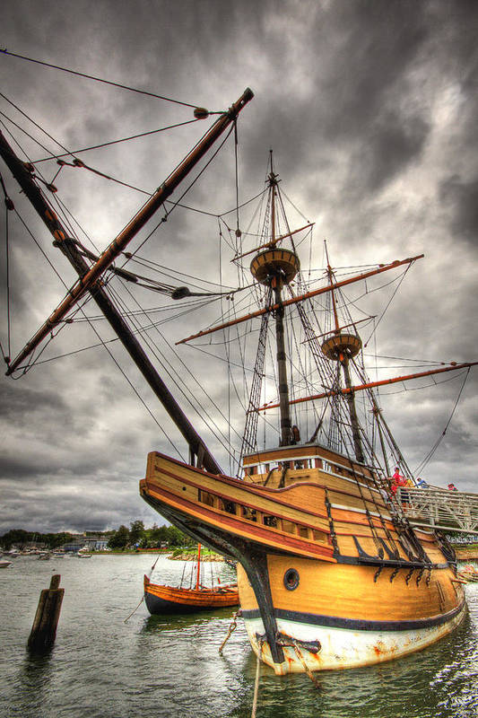 Mayflower Art Print featuring the photograph Mayflower II by Michael Yeager