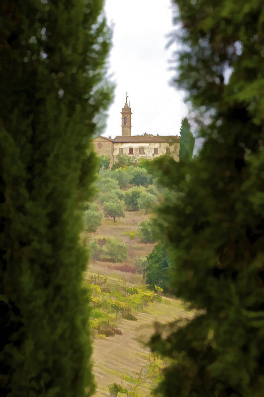 Art Art Print featuring the photograph Medieval Church Of Tuscany by David Letts